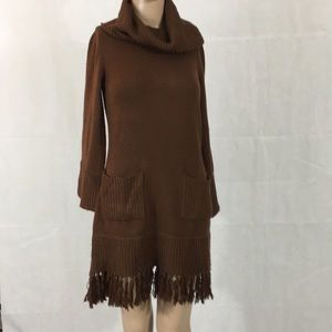 Soft Surroundings Coffee Colored Sweater Dress